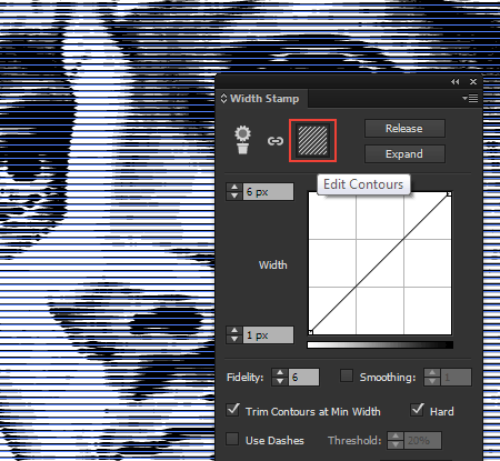 Create a Line Art with new release of WidthScribe2